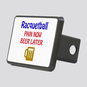 Racquetball Pain now Beer Rectangular Hitch Cover