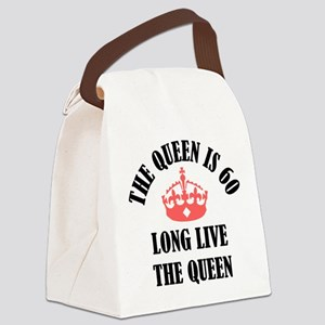 The Queen Is 60 Canvas Lunch Bag