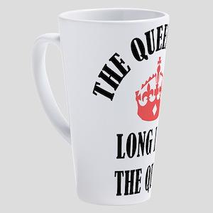 The Queen Is 60 17 oz Latte Mug