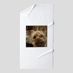 Yorkie Puppy Beach Towel