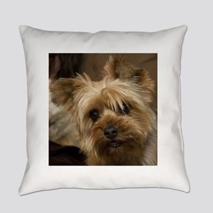 Yorkie Puppy Everyday Pillow