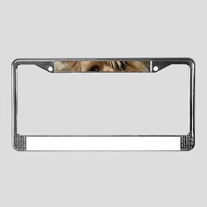 Yorkie Puppy License Plate Frame