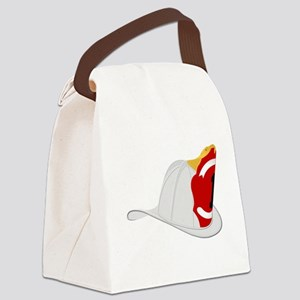 Traditional Fire Department Helme Canvas Lunch Bag
