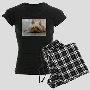 Yorkie Dog Women's Dark Pajamas