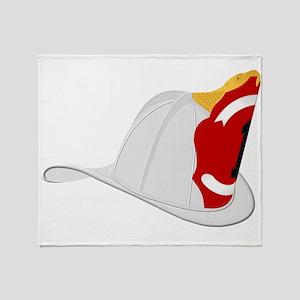 Traditional Fire Department Helmet W Throw Blanket