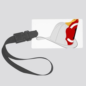 Traditional Fire Department Helm Large Luggage Tag