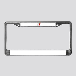 Traditional Fire Department He License Plate Frame