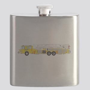 Fire Truck - Traditional ladder fire truck y Flask