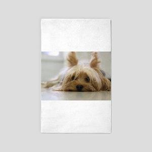 Yorkie Dog Area Rug