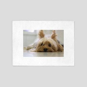 Yorkie Dog 5'x7'Area Rug