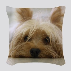 Yorkie Dog Woven Throw Pillow