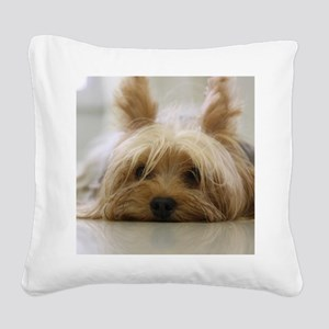 Yorkie Dog Square Canvas Pillow