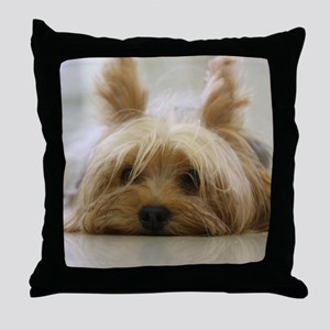 Yorkie Dog Throw Pillow