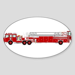 Fire Truck - Traditional ladder fire truck Sticker