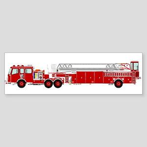 Fire Truck - Traditional ladder fir Bumper Sticker
