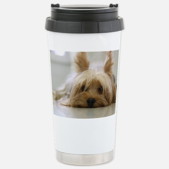 Yorkie Dog Stainless Steel Travel Mug
