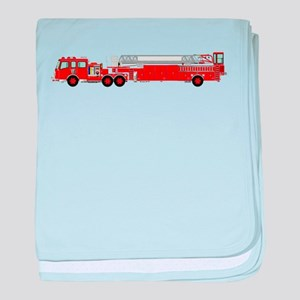 Fire Truck - Traditional ladder fire baby blanket