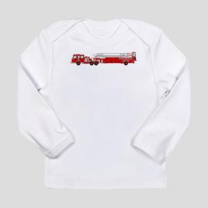 Fire Truck - Traditional ladde Long Sleeve T-Shirt