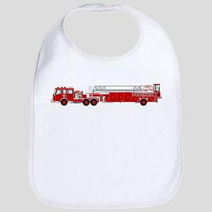 Fire Truck - Traditional ladder fire truck red Bib