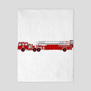 Fire Truck - Traditional ladder fire tr Twin Duvet