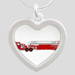 Fire Truck - Traditional ladder fire tru Necklaces