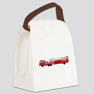 Fire Truck - Traditional ladder f Canvas Lunch Bag