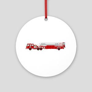 Fire Truck - Traditional ladder fir Round Ornament