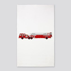 Fire Truck - Traditional ladder fire truc Area Rug