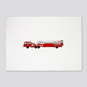 Fire Truck - Traditional ladder fir 5'x7'Area Rug