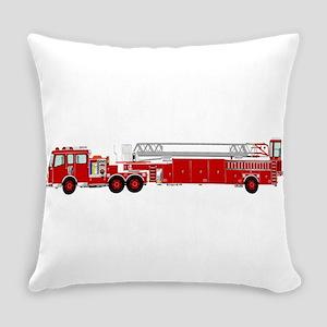 Fire Truck - Traditional ladder fi Everyday Pillow