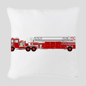 Fire Truck - Traditional ladde Woven Throw Pillow