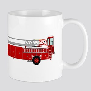 Fire Truck - Traditional ladder fire truck re Mugs