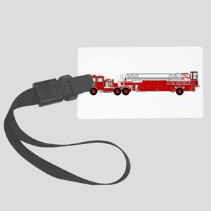 Fire Truck - Traditional ladder Large Luggage Tag