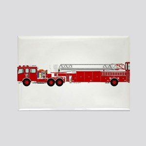 Fire Truck - Traditional ladder fire truck Magnets
