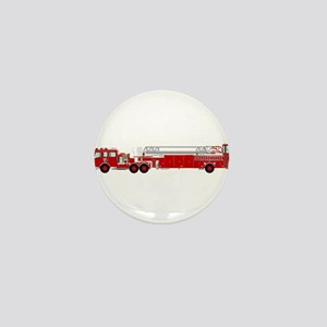 Fire Truck - Traditional ladder fire t Mini Button