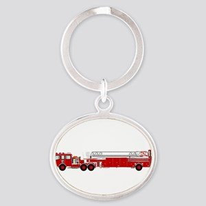 Fire Truck - Traditional ladder fire tru Keychains