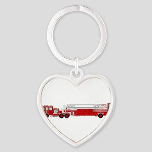 Fire Truck - Traditional ladder fire tru Keychains