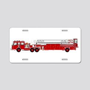Fire Truck - Traditional la Aluminum License Plate