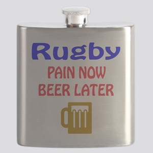 Rugby Pain now Beer later Flask