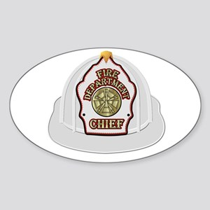 Traditional Fire Department Chief Helmet Sticker