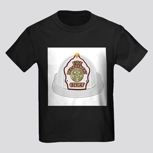 Traditional Fire Department Chief Helmet T-Shirt