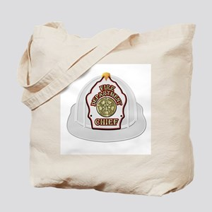 Traditional Fire Department Chief Helmet Tote Bag