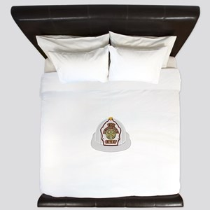 Traditional Fire Department Chief Helme King Duvet