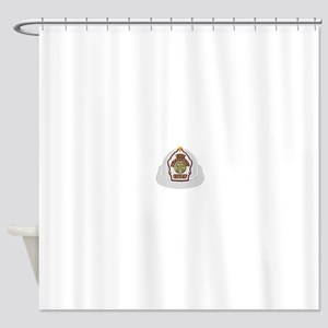 Traditional Fire Department Chief H Shower Curtain
