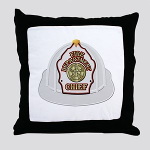 Traditional Fire Department Chief Hel Throw Pillow