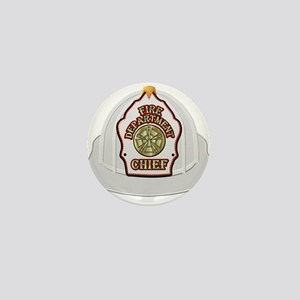 Traditional Fire Department Chief Helm Mini Button