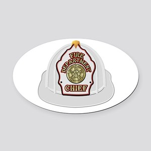 Traditional Fire Department Chief Oval Car Magnet