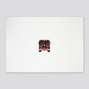 Fire Engine - Traditional fire engi 5'x7'Area Rug