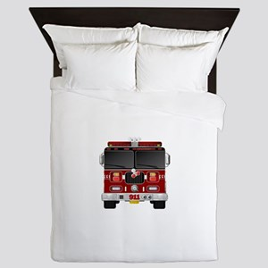 Fire Engine - Traditional fire engines Queen Duvet