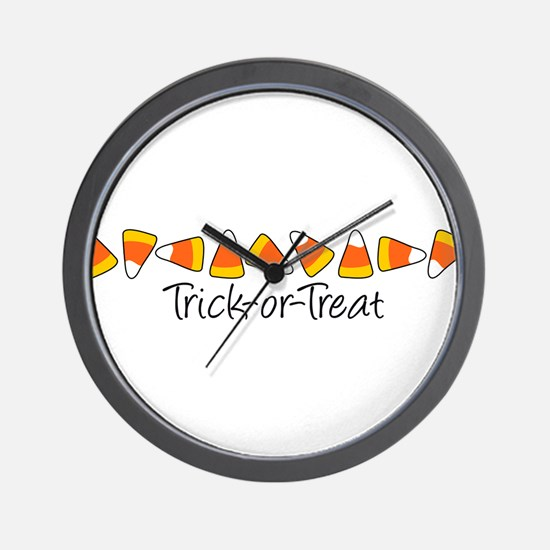 Trick-Or-Treat (Candy Corn) Wall Clock